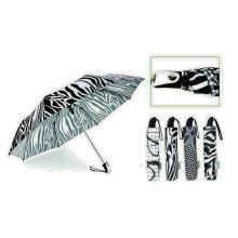 Parapluie coupe-vent automatique noir et blanc 3 plis (YS-3FA22083909R)