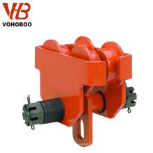 La carretilla con barra de empuje de 1 tonelada para cargas pesadas se adapta a orugas de vigas estándar / anchas