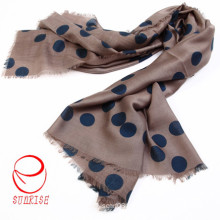 Classical DOT Design Silk Cashmere Warm Long Scarf