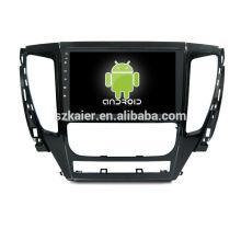 ¡Cuatro nucleos! DVD de coche Android 6.0 para Mitsubishi L200 con pantalla capacitiva de 9 pulgadas / GPS / Enlace de espejo / DVR / TPMS / OBD2 / WIFI / 4G
