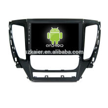 Quatro núcleos! Dvd do carro do andróide para a tela capacitiva do mitsubbishi L200 / GPS / ligação do espelho / DVR / TPMS / OBD2 / WIFI / 4G / 3G / IPOD