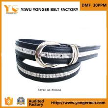 Diseño único de alta calidad damas formal cinturón de diamantes de imitación
