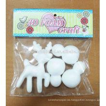 suministros de fiesta artesanías decorativas impermeable espuma de poliestireno navidad ciervos / kit de muñeco de nieve