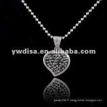Western Style Hot Sale Collier en forme de coeur, beau collier et différentes couleurs pour votre choix