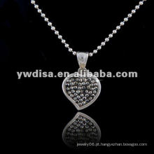 Estilo ocidental Colar quente da forma do coração da venda, colar bonita & cores diferentes para seu escolher