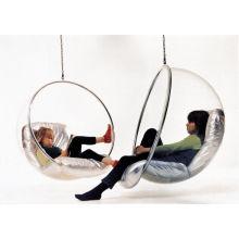Silla de la burbuja de acrílico y columpio silla colgante