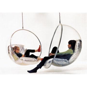 Cadeira acrílica da bolha e balanço, cadeira de suspensão