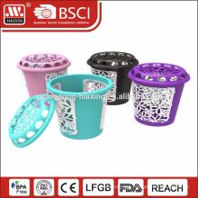 2015 new design fashionable plastic laundry basket
