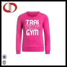 2016 Frauen Pullover Kundenspezifische Sport-Sweatshirts mit Druck