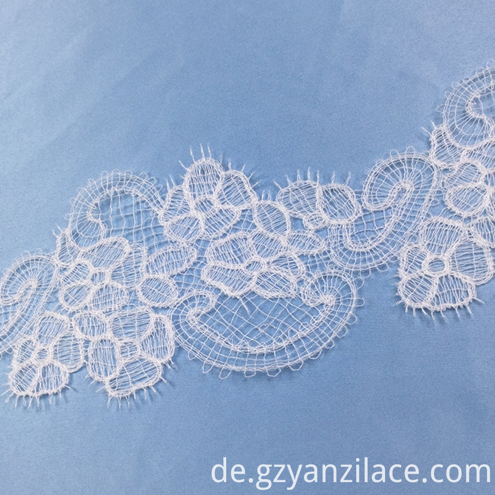 Snow White Eyelet Fabric Lace Trim