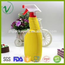 Promotional high-quality flat empty HDPE 500ml plastic bottle liquid supplier