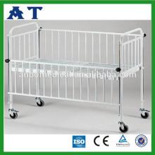 Nuevo bebé de cama marco de acero inoxidable hospital bebé cuna