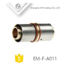 EM-F-A011 Messing gerade Kupplung Presse Anschluss Rohrverschraubung