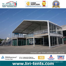 15m a-Frame Double Decerk Two Storey Marquee Tent Structure with Stair