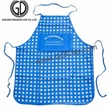 Manufacturer Cheap Promtional Polycotton Checked Cooking Kitchen Apron