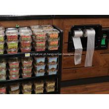 Saco plástico do congelador para o supermercado