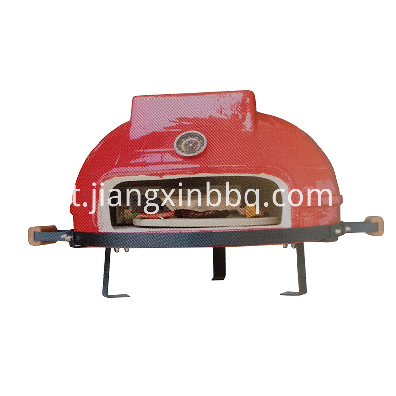 Red Tabletop Ceramic Pizza Oven