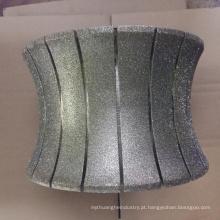 Roda abrasiva galvanizada 250mm do diamante da roda do perfil roda de abrasivo de mármore