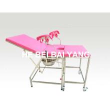 (A-176) Cama médica / Cama de hospital / Mobiliário de hospital / Cama de entrega de aço inoxidável