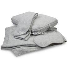 PK18ST002 travel bag set cashmere travel blanket nap set