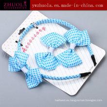 Moda de tela de cinta de accesorios de pelo accesorio para las mujeres