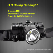 Jexree 1000Lumen Cree XPE led rechargeable led diving headlamp