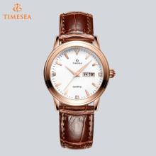 Klassische Damen Leder Armbanduhr mit Quarzwerk 71266