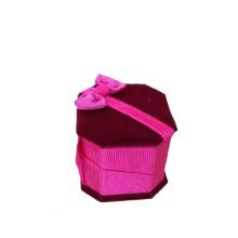 Exclusivo diseño de mariposa terciopelo joyería anillo caja al por mayor (BX-VPB-PP)