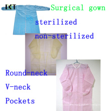 Disposable SMS Non Woven Surgical Gown Manufacturer Kxt-Sg19