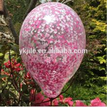 Mariage naturel confettis ballon mariage printemps minuscule coeur rose confettis