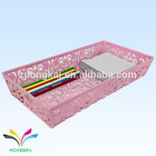 nuevo estilo colorido rosa escocés magnético escritorio pluma sostenedor memo cubo para la escuela