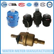 Kent Medidores de água em plástico e material de latão para a opção