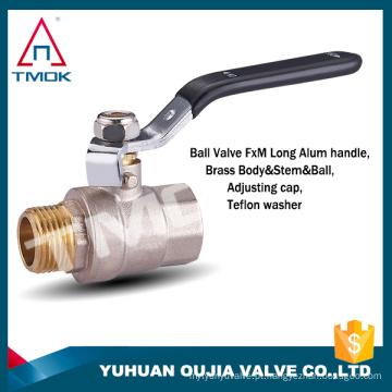 TMOK gás, água, óleo Mídia forjada NPT porta cheia válvula de esfera de latão com rótulo particular no identificador CSA FM UL IAPMO