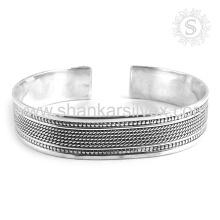 Настойчивая простой серебряный браслет последний предлагает оптовые 925 стерлингового серебра ювелирные изделия ручной работы серебряные ювелирные изделия