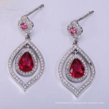 2018 hot style bijoux en argent pour les femmes boucles d'oreilles