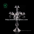 Clear Glass Candle Holder by BV, SGS (h: 35cm)