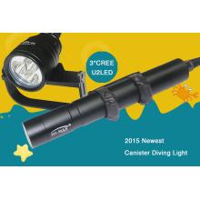 Hohe Helligkeit Tauchen Taschenlampe 3000 Lumen cree xm-l u2 * 3 Stück 26650 Akku