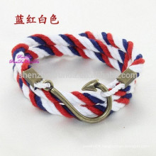 Wholesale Fashion DIY Bracelet with Hook Clasp Handmade Rope Bracelet Make Your Own Stainless Steel Bracelets Jewelry
