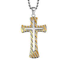 Hdx ouro aço zebra cruz jóias pingente