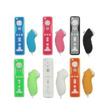 Estojo de silicone de 5 cores Tampa de pele macia Tampa protetora de borracha a prova de poeira para controle remoto Wii para joystick remoto Wii