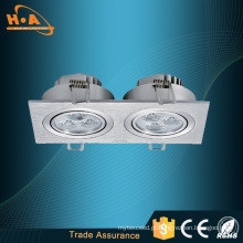 Iluminação dobro de poupança de energia do teto do diodo emissor de luz dos Downlighters