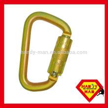 ANSI-2448TL Aço Galvanizado Classic D tipo Twist Lock ANSI Carabiner