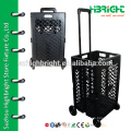 crate shopping trolley on wheels(35KG capacity)