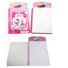Pintura en aerosol mágica Hello kitty Libro de pintura en agua para niños libro lindo aquawater doodle con pluma de agua