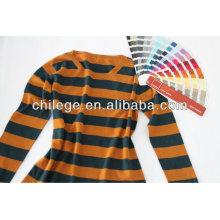 Fashion Kaschmir Streifen Rundhalsausschnitt Pullover für die Dame