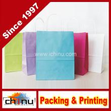 Papel de presente impresso personalizado Kraft Bag (220004)