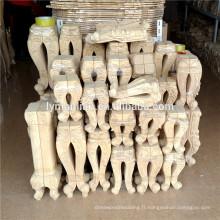 pieds de meubles en bois