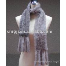 écharpe en fourrure de vison tricotée