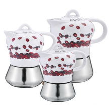 2/4/6 Tassen Mokka Pot Kaffeemaschine