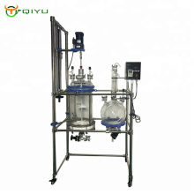 20L Lab Equipment Crystallization Reactor Filter Glass Reactor  manufacture With Collecting Bottle
